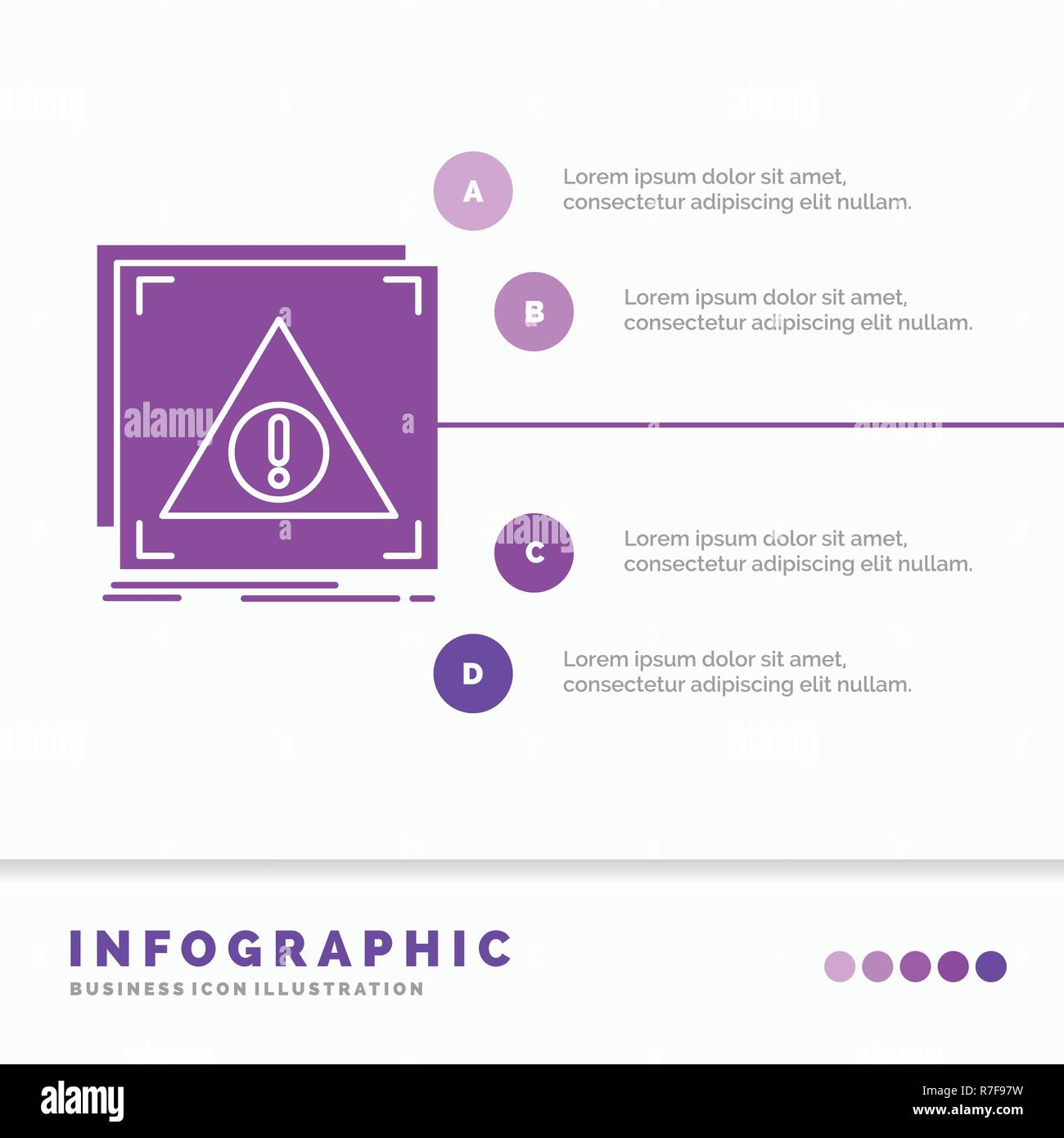 Error, Application, Denied, server, alert Infographics Template for Website and Presentation. GLyph Purple icon infographic style vector illustration. - Stock Image