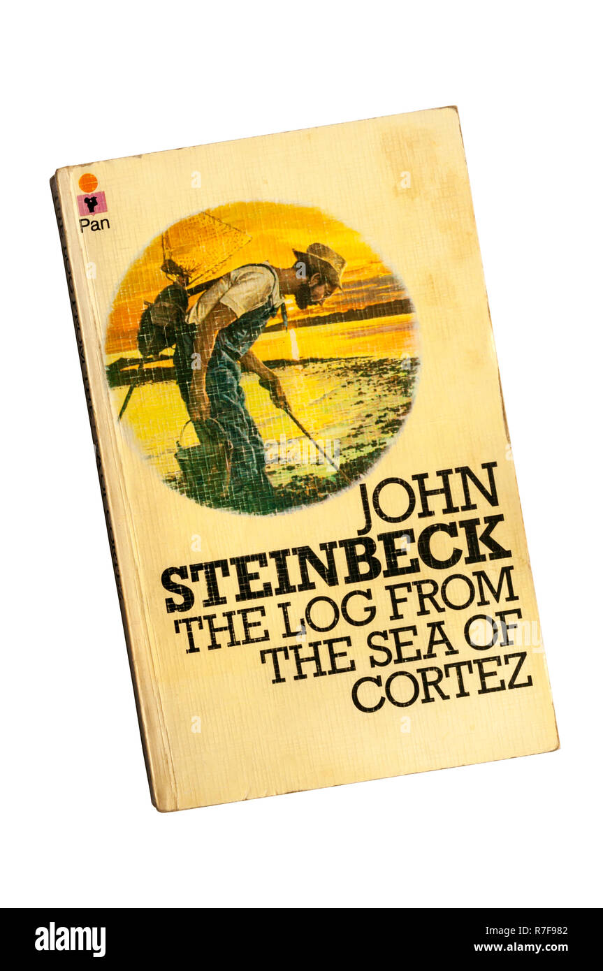 A paperback copy of The Log From The Sea of Cortez by John Steinbeck, published in 1951. - Stock Image