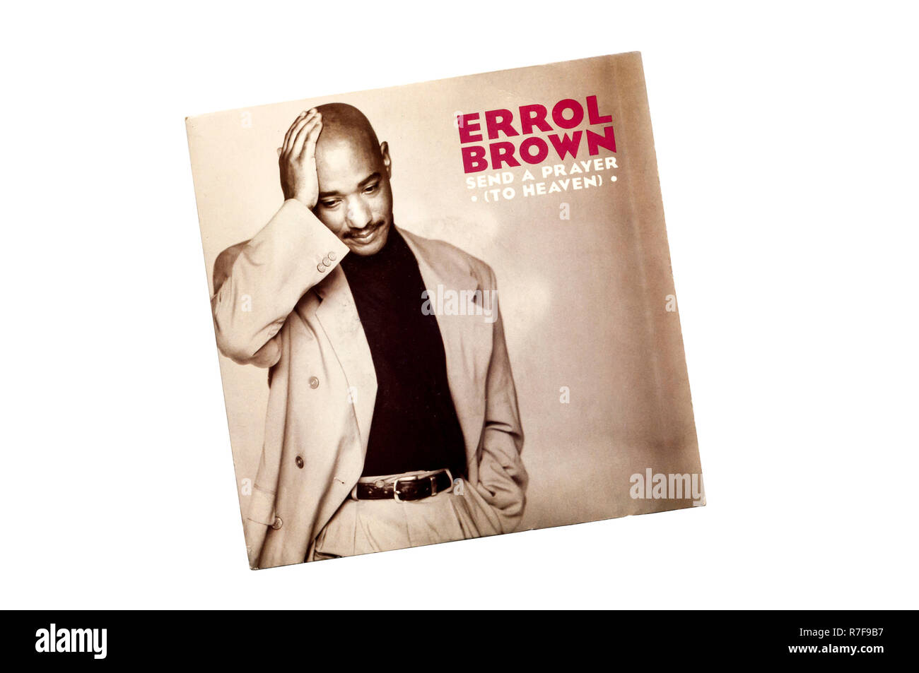 1990 7' single, Send a Prayer ( To Heaven ) by Errol Brown. - Stock Image
