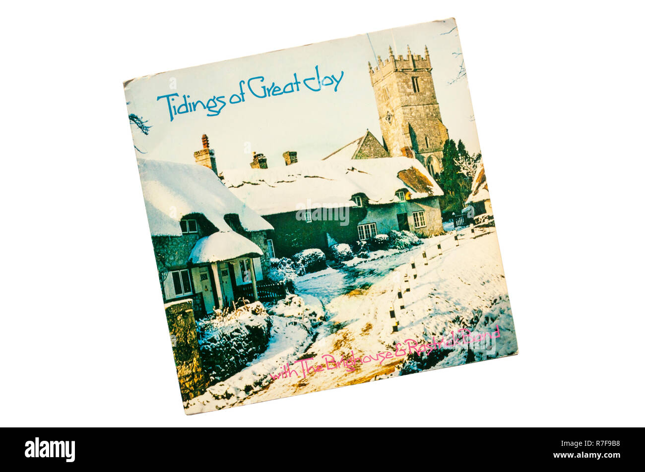 "1978 7"" Christmas single, Tidings of Great Joy by the Brighouse And Rastrick Brass Band. Stock Photo"