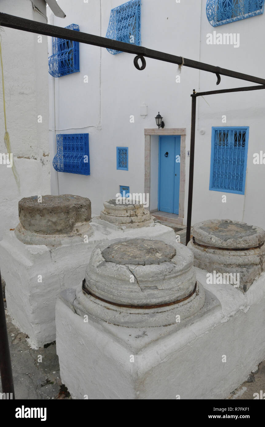 Tunesia: water-supply in Sidi Bou Said - Stock Image