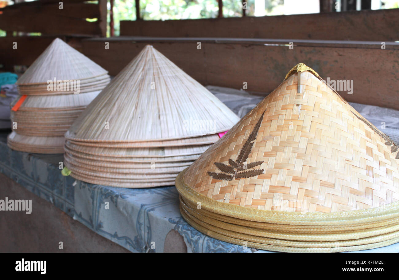Asian conical wide-brimmed rain hats for sale Stock Photo  228382406 ... 2400e62a334