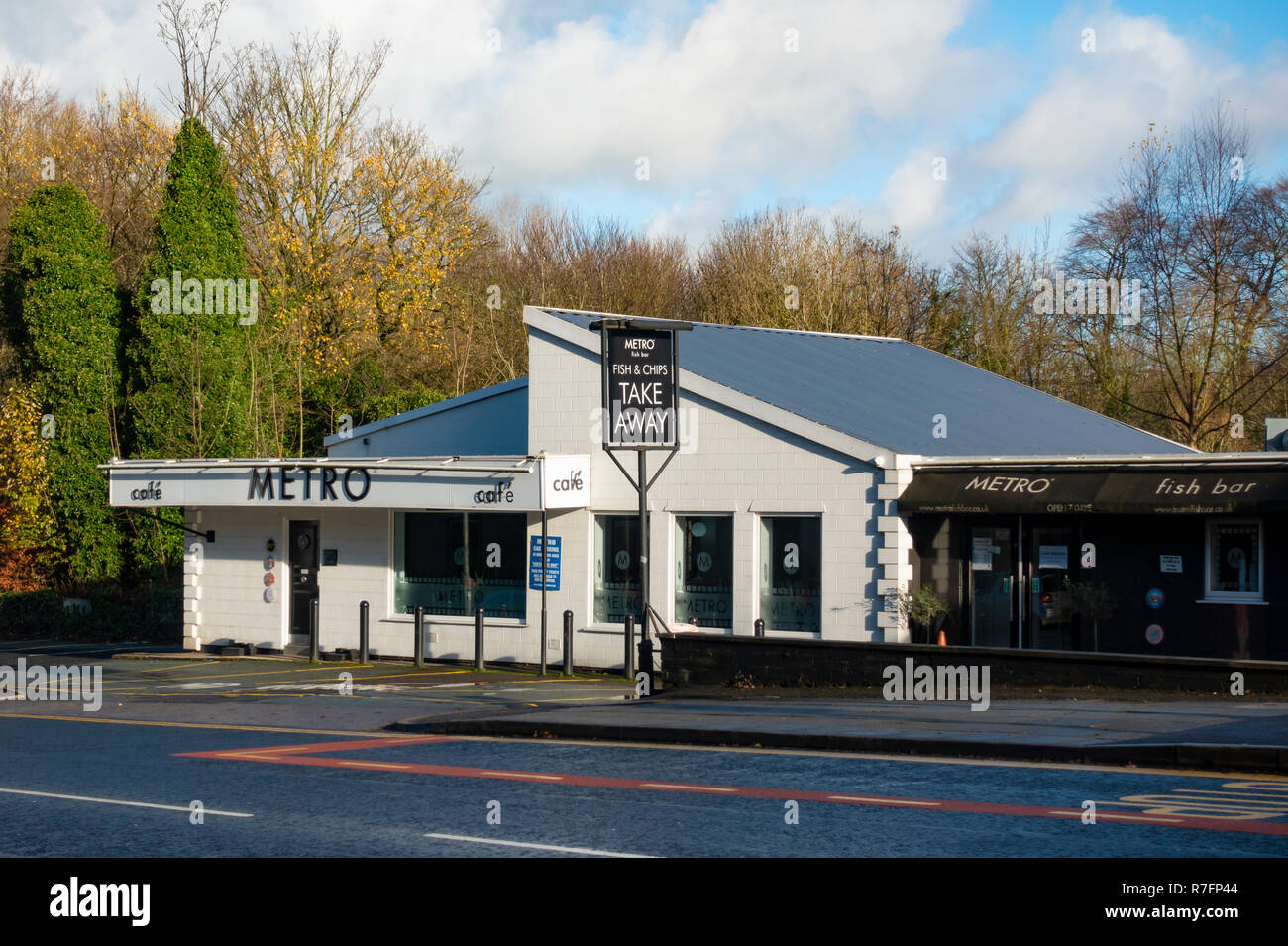 Metro Fish Bar on Manchester Road Bury Stock Photo