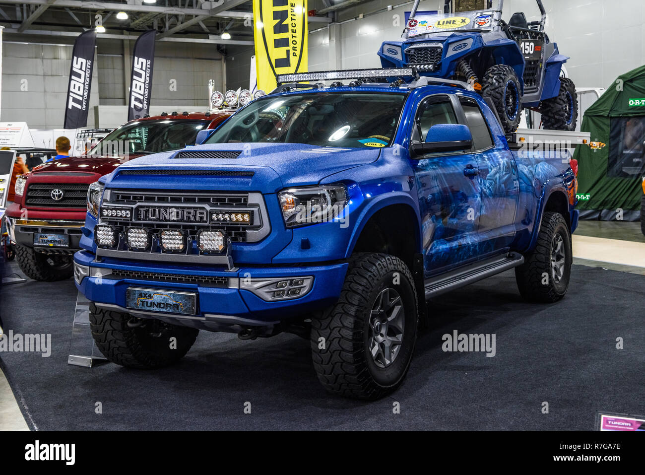MOSCOW - AUG 2016: Toyota Tundra 4x4 presented at MIAS