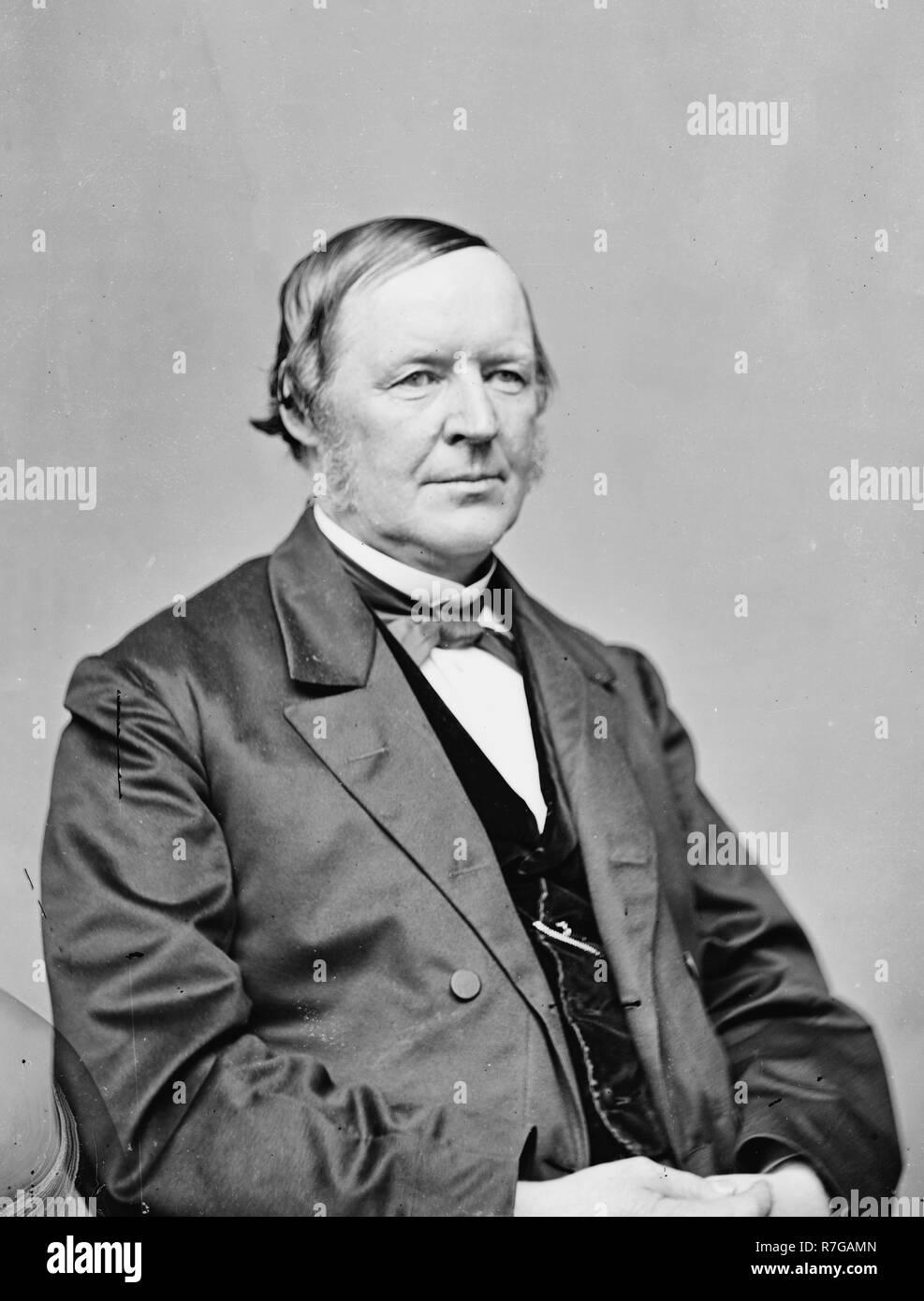 Portrait of Hugh McCulloch, Secretary of the U.S. Treasury, circa 1865 - Stock Image