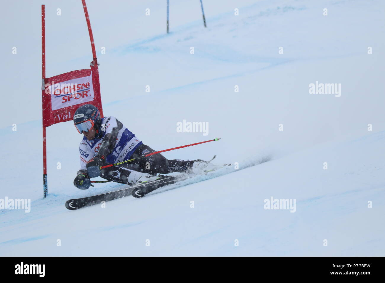 08 December 2018 Val d'Isère, France. Ted Ligety Alpine Skier from USA competing in men's Giant Slalom Audi FIS Alpine Ski World Cup 2019 Stock Photo