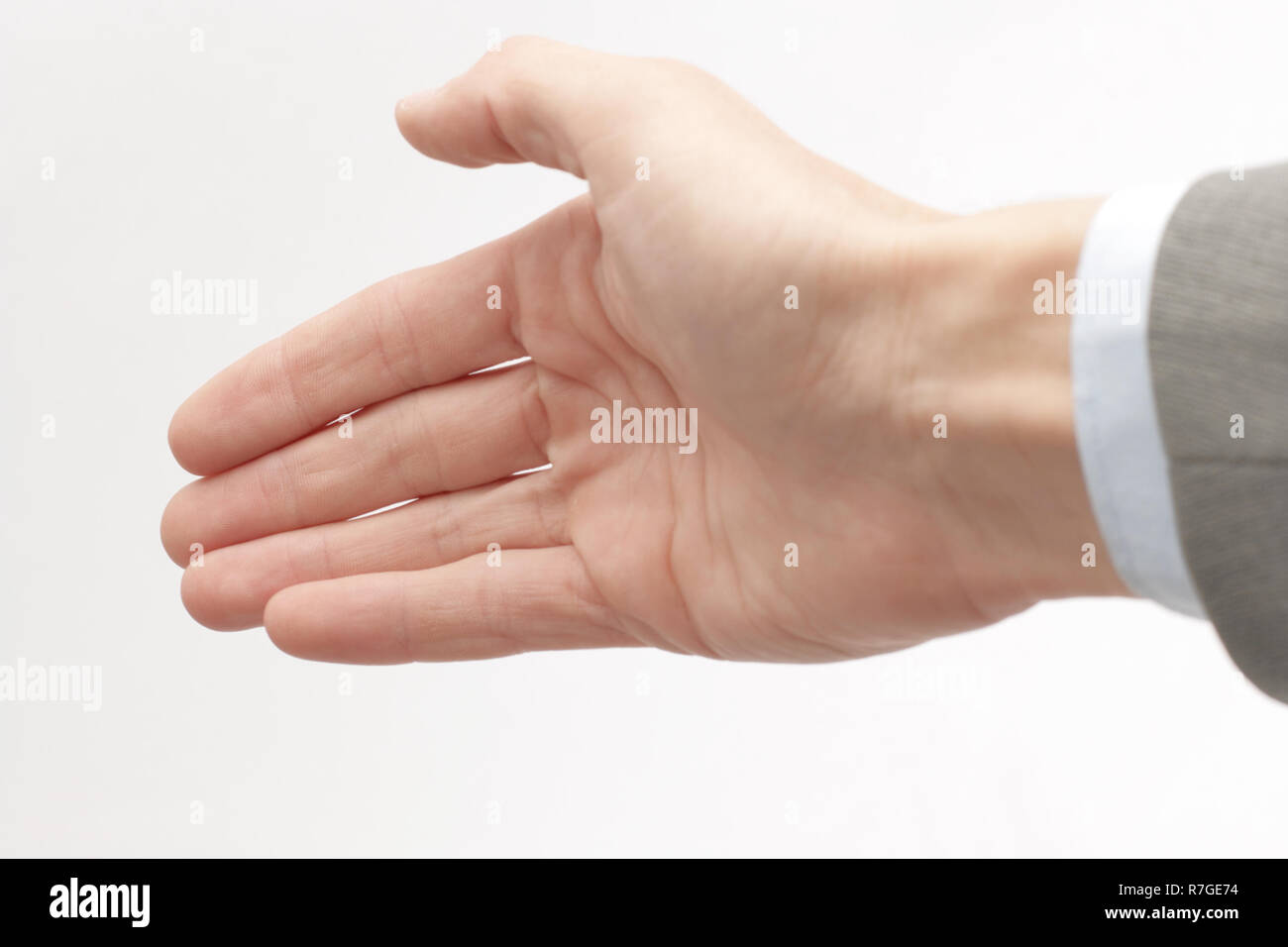 closeup .hand of a businessman, outstretched for a handshake Stock Photo