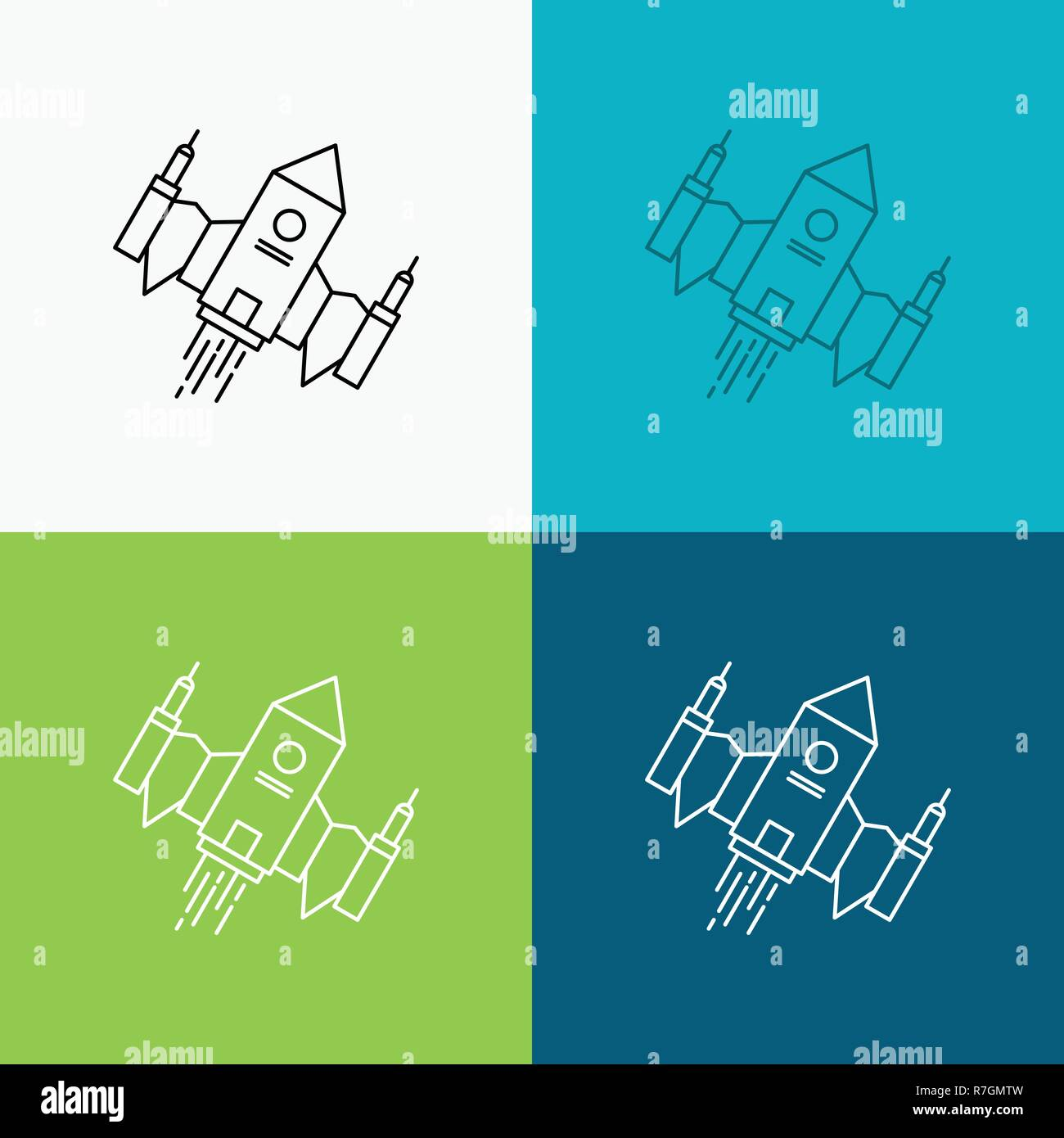 Galaxy Invaders Stock Photos Images Alamy Spaceship Engine Diagram Spacecraft Ship Space Alien Icon Over Various Background Line Style