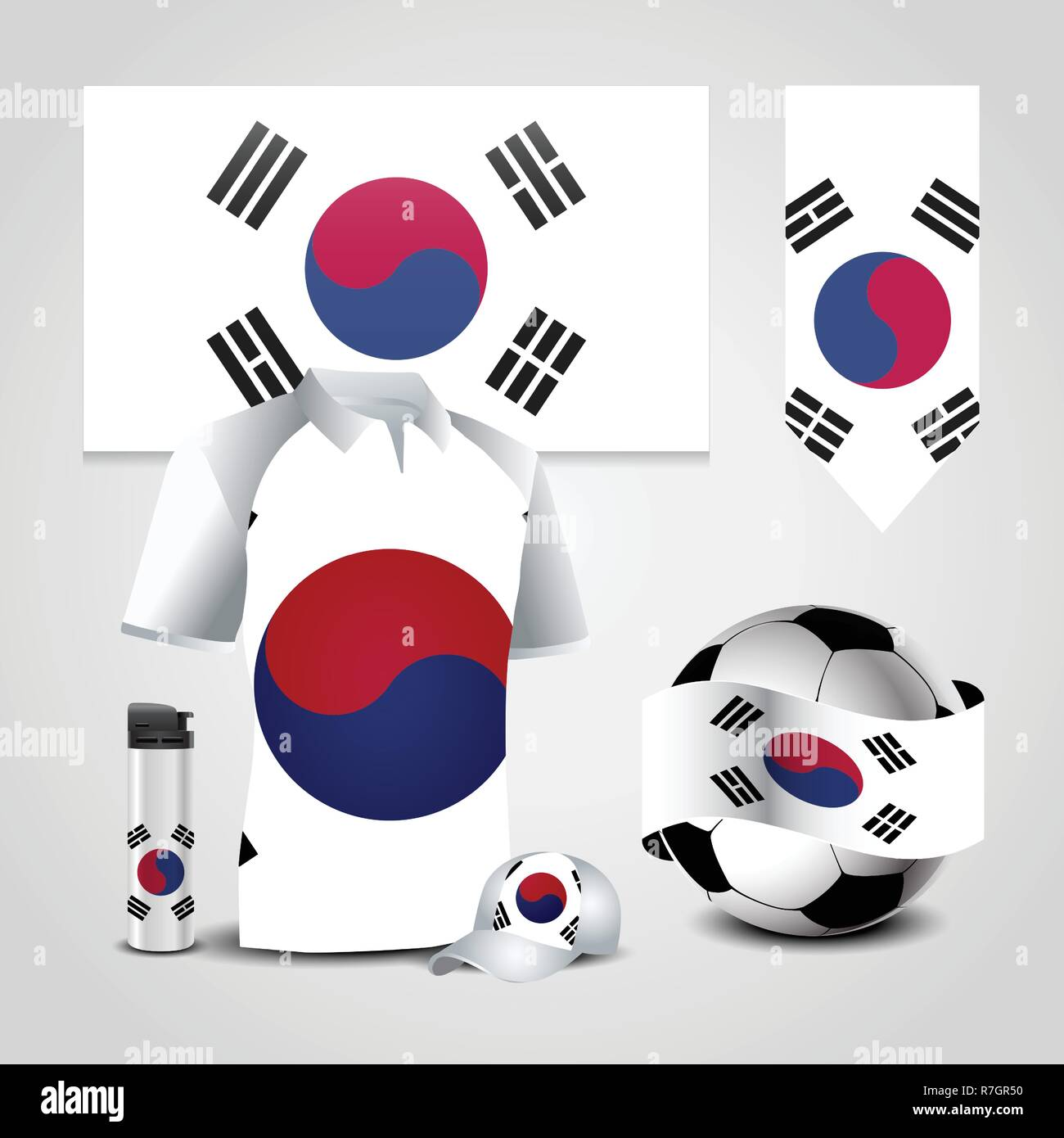 3a4172c77 South Korea Country Flag place on T-Shirt
