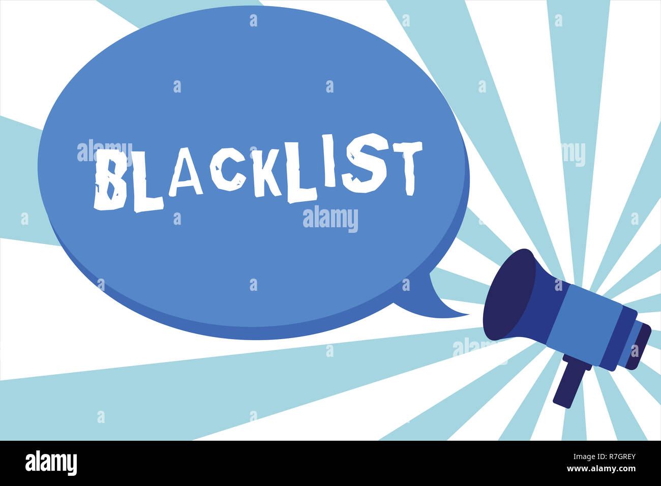 Word writing text Blacklist  Business concept for list of