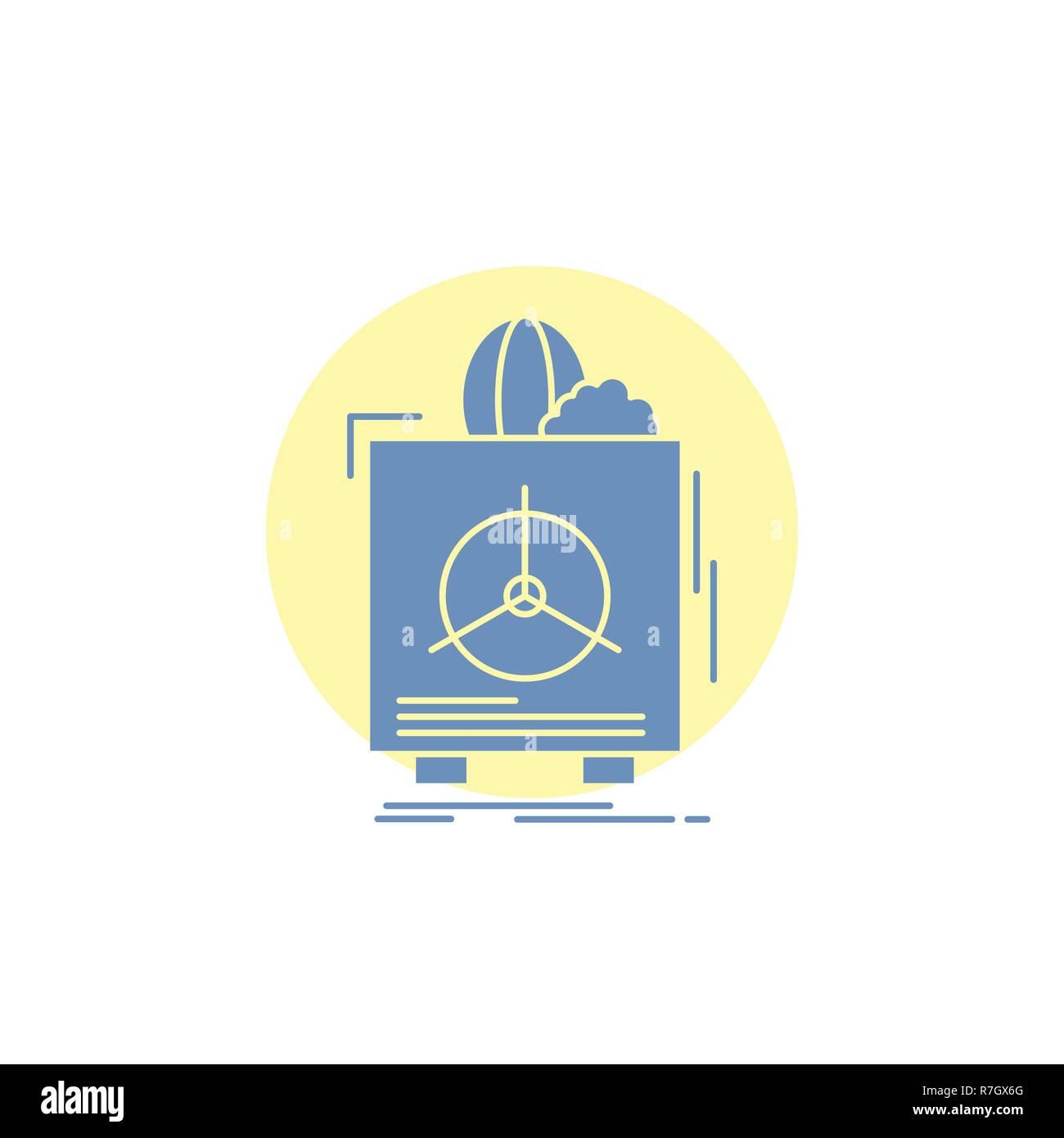 insurance, Fragile, product, warranty, health Glyph Icon. - Stock Vector