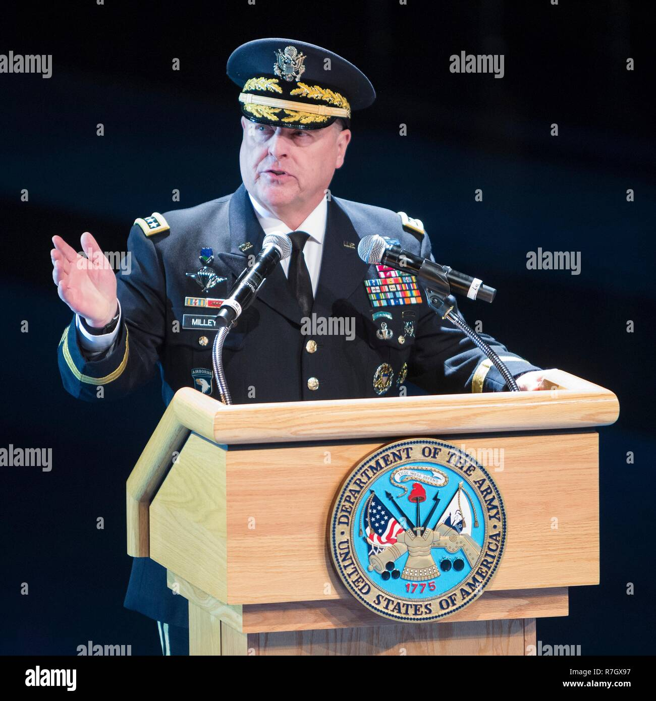 590520d94 U.S. Army Chief of Staff Gen. Mark Milley delivers remarks during a Salute  from the
