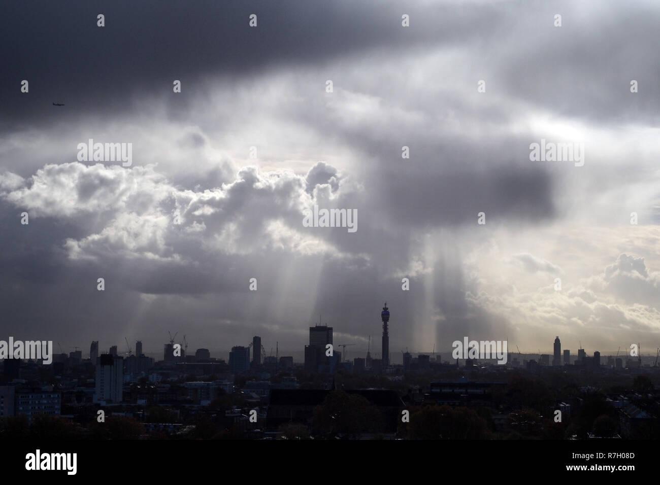 London UK City Skyline Stock Photo