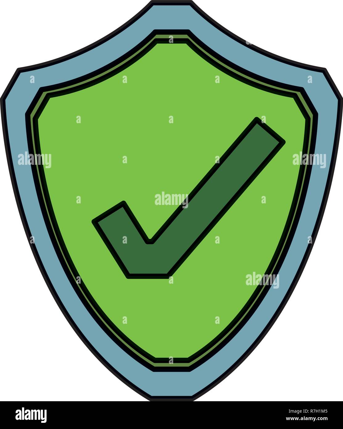 computer protection icon Stock Vector