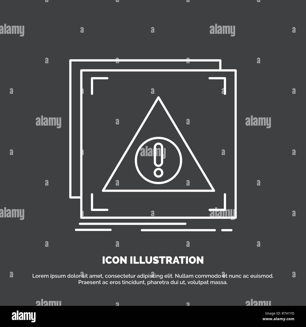 Error, Application, Denied, server, alert Icon. Line vector symbol for UI and UX, website or mobile application - Stock Image