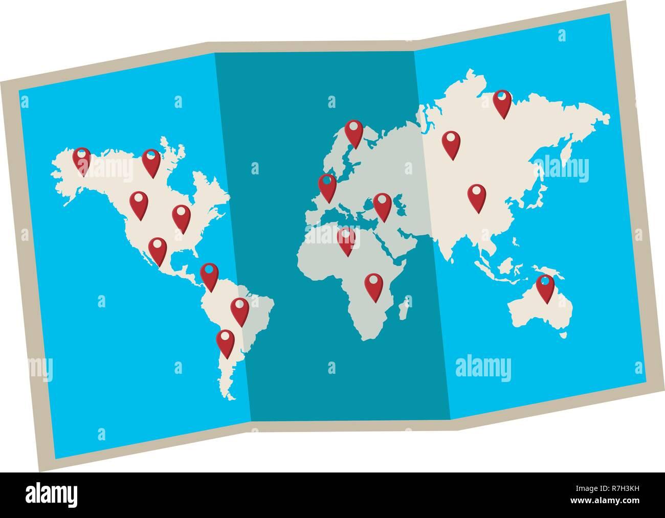 world map icon Stock Vector Art & Illustration, Vector Image