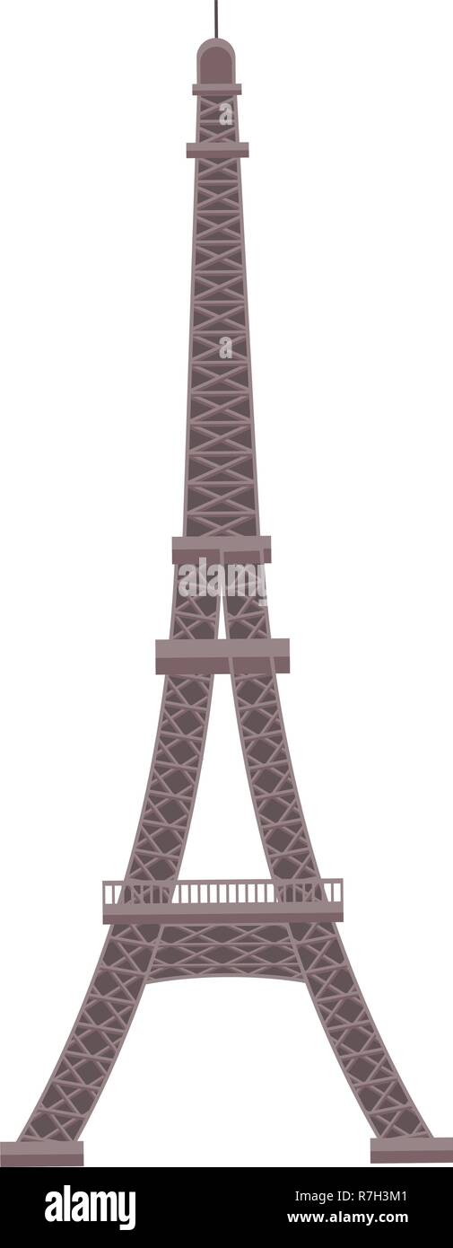 eiffel tower monument - Stock Vector