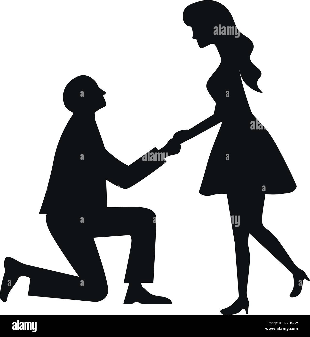 Cute Wedding Couple Cartoon Stock Vector Image Art Alamy