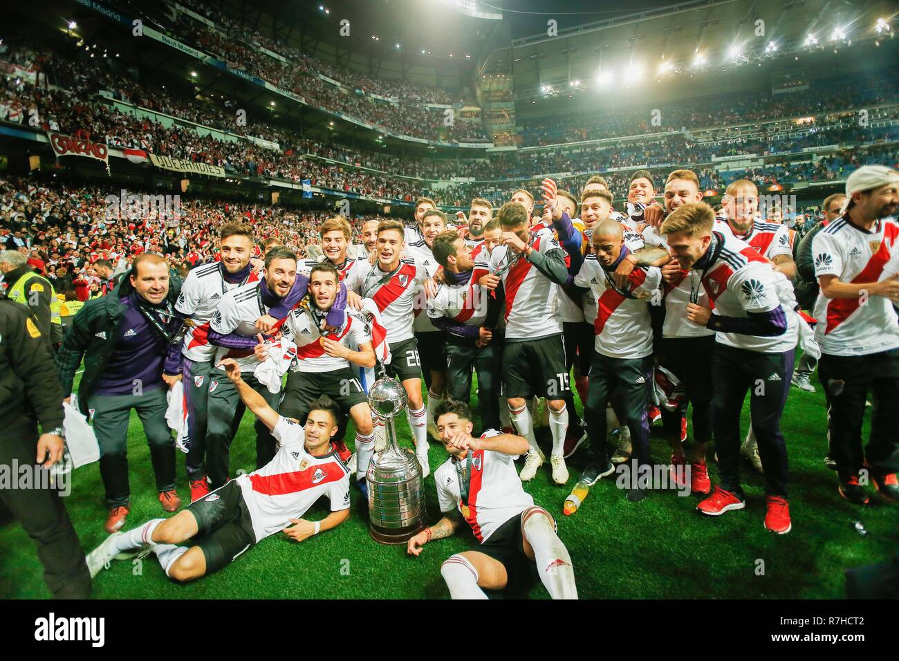 Players Of River Plate Celebrates After They Won The Finals Of Copa
