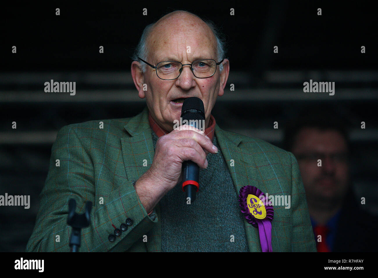 Stuart Agnew UKIP MEP and UKIP Agriculture and Food Spokesperson in London, UK. 09th Dec, 2018. Presented a speech along with Gerard Batten and Tommy Robinson who joined together on the Brexit Betrayed Rally organised by UKIP in London Credit: Rupert Rivett/Alamy Live News - Stock Image