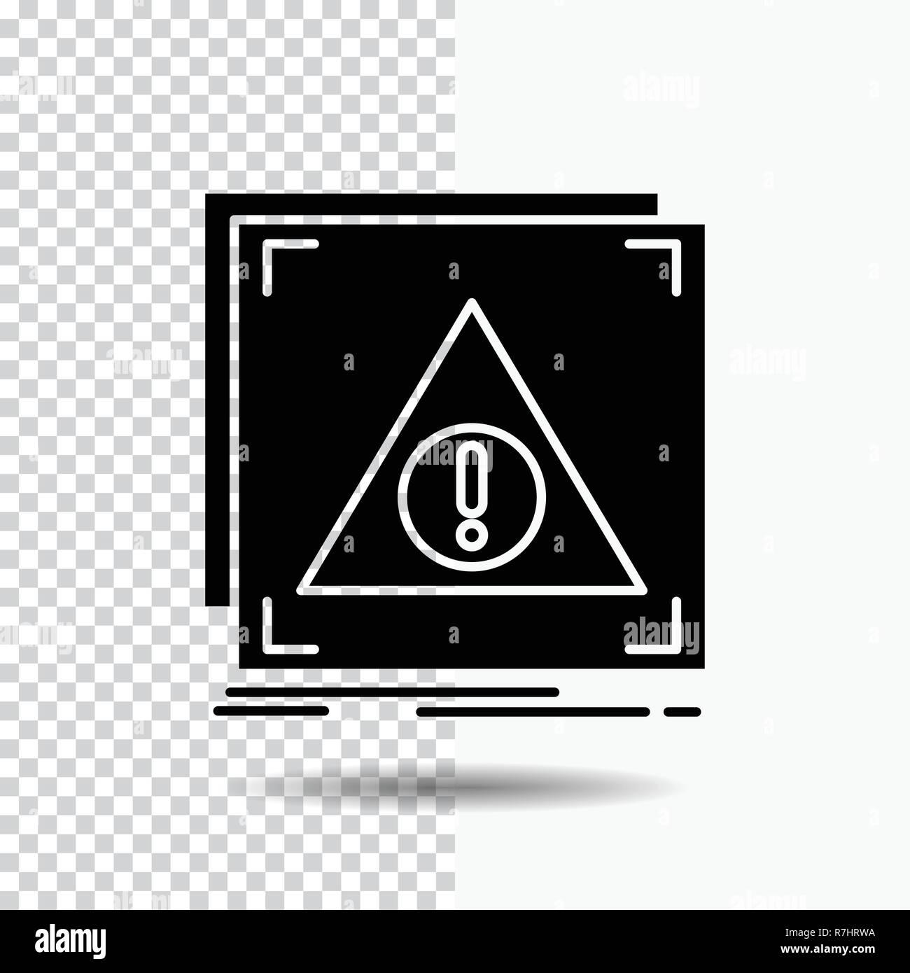 Error, Application, Denied, server, alert Glyph Icon on Transparent Background. Black Icon - Stock Image