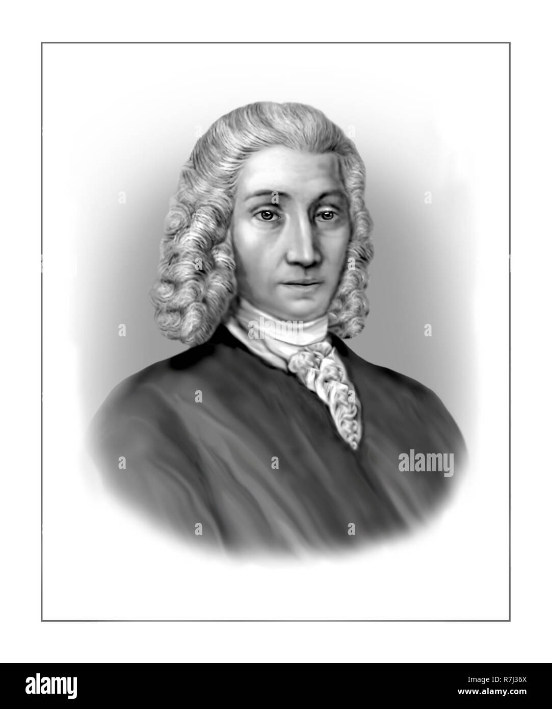 Anders Celsius  1701 - 1744  Swedish Astronomer Physicist Mathematician - Stock Image