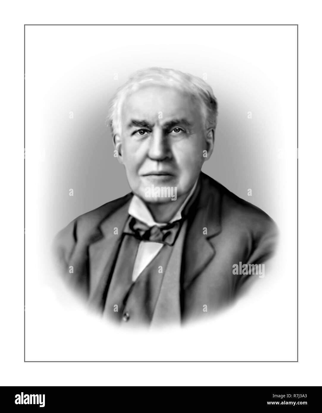 Thomas Alva Edison  1847 - 1931 American Inventor Businessman - Stock Image