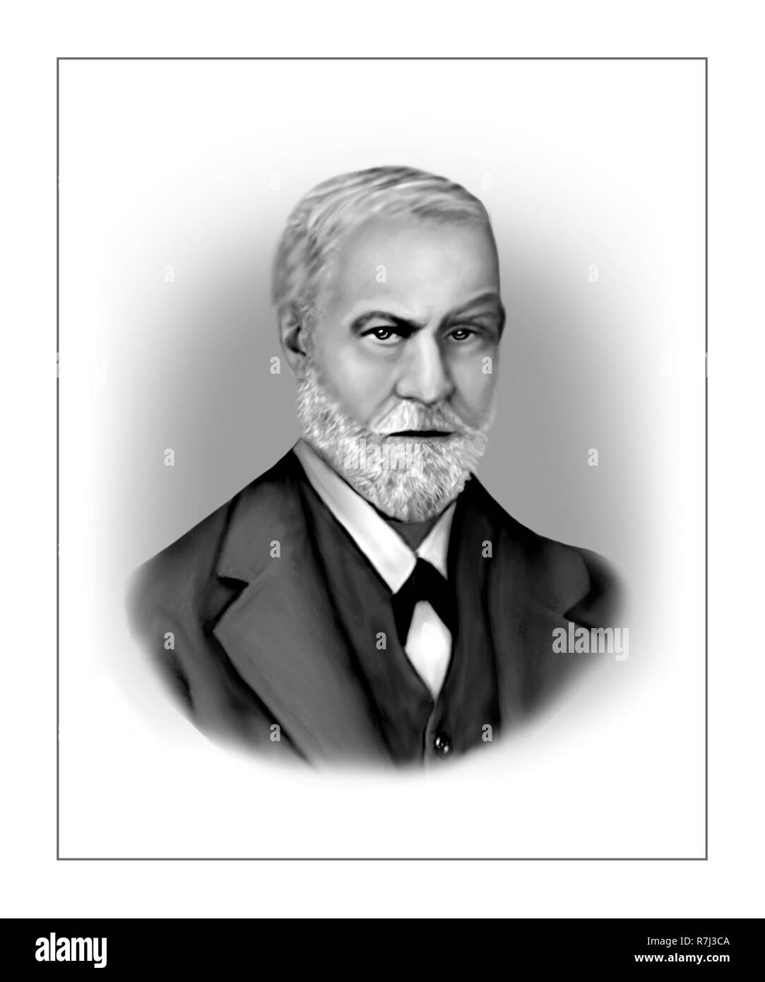 Sigmund Schlomo Freud  1856 - 1939  Austrian Founder of Psychoanalysis Neurologist - Stock Image