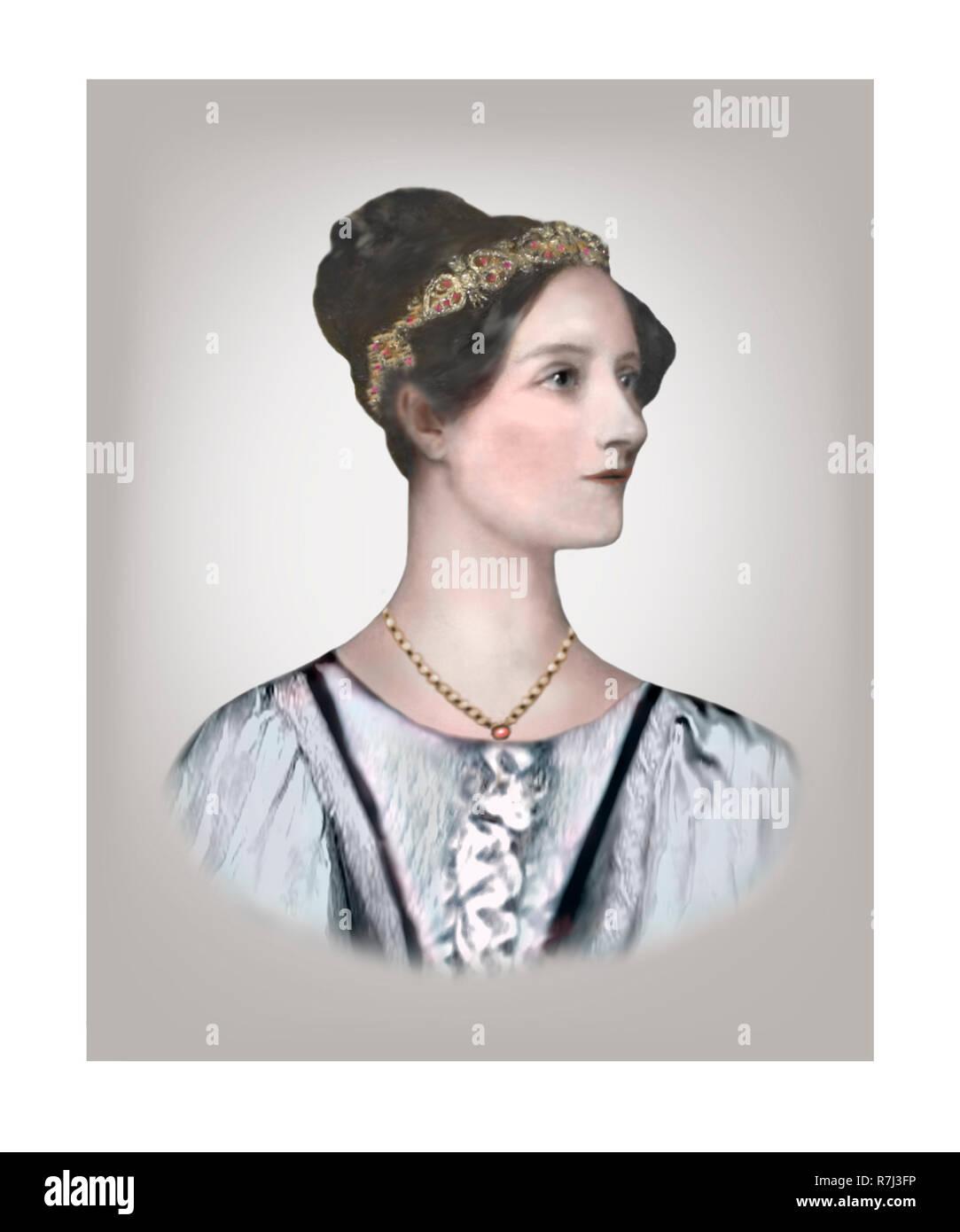 Ada Lovelace  1815 - 1852  English Mathematician Writer - Stock Image