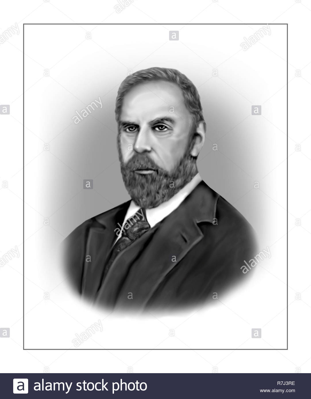 Bram Stoker 1847 - 1912 Irish Writer Stock Photo