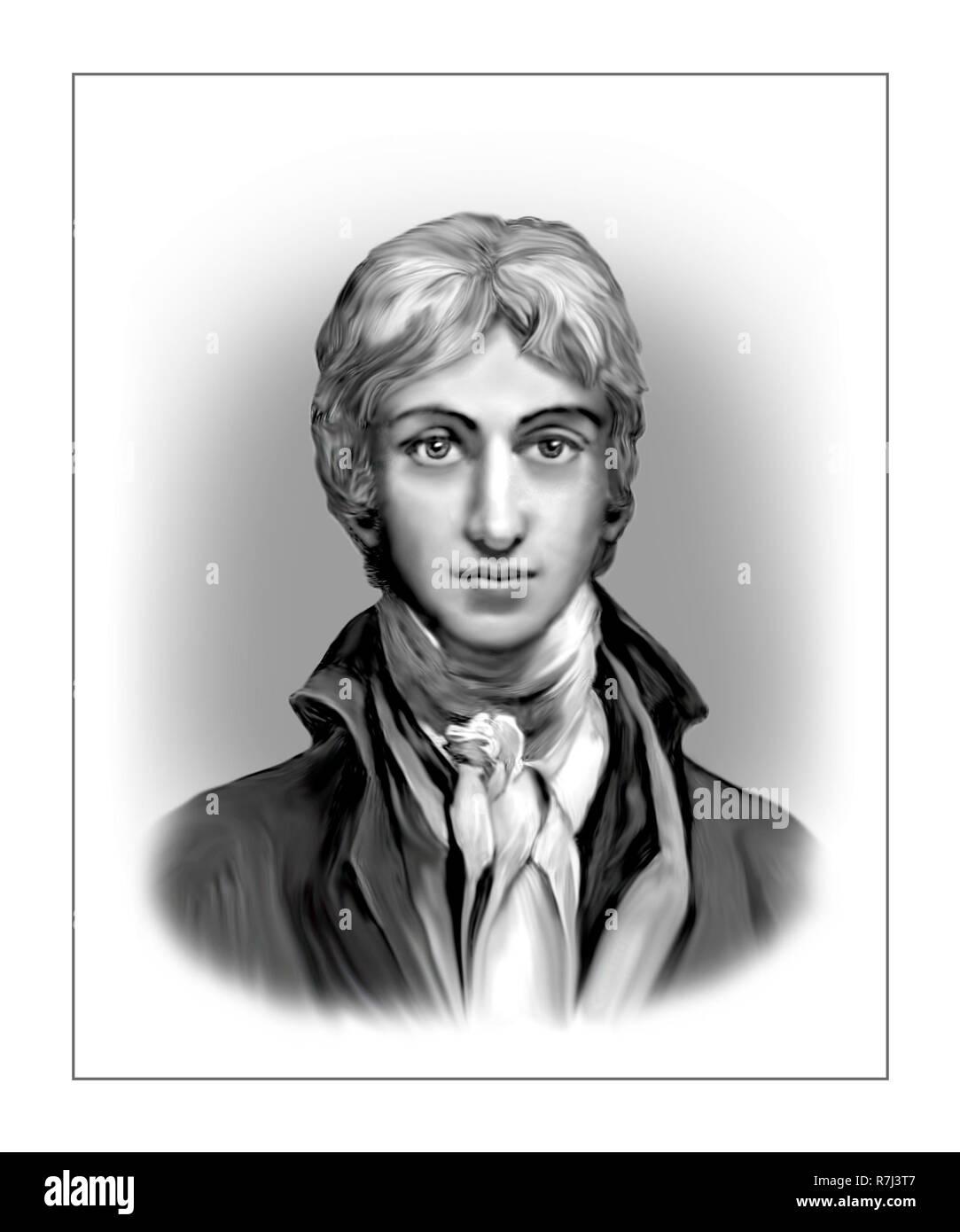 Joseph Mallord William Turner 1775 - 1851 English Painter - Stock Image
