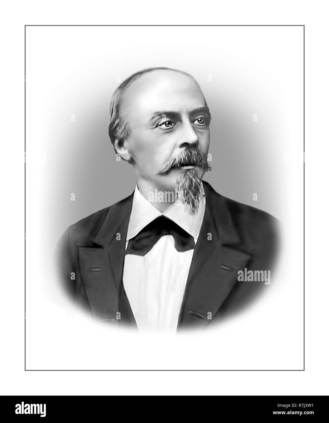 Hans von Bulow  1830 - 1894  German Conductor Composer Pianist - Stock Image