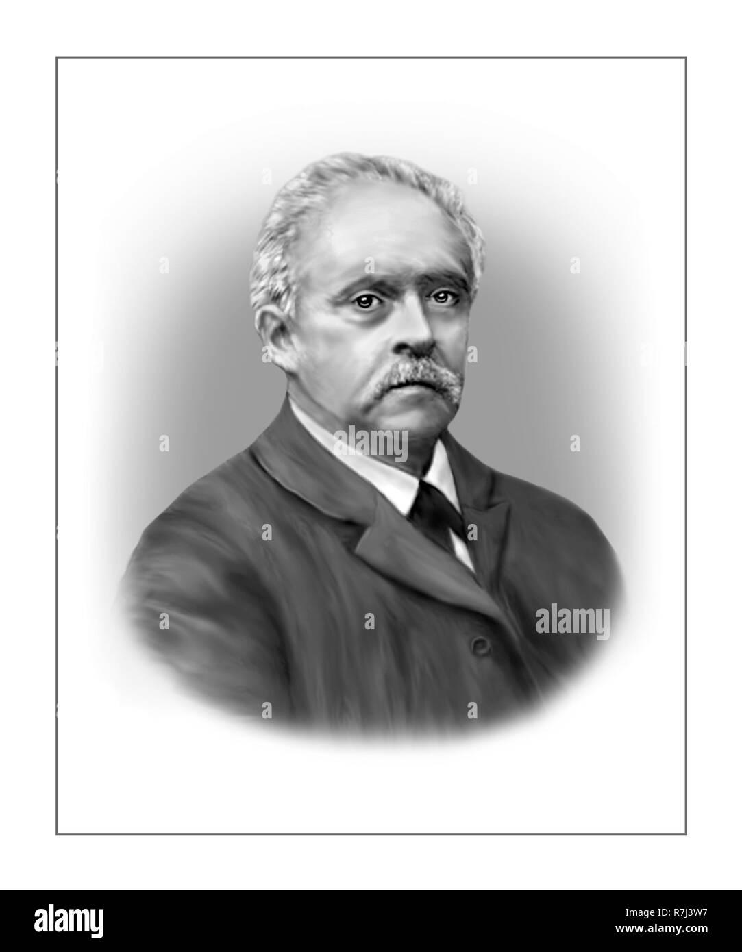 Hermann von Helmholtz 1821 - 1894 German Physician Physicist - Stock Image