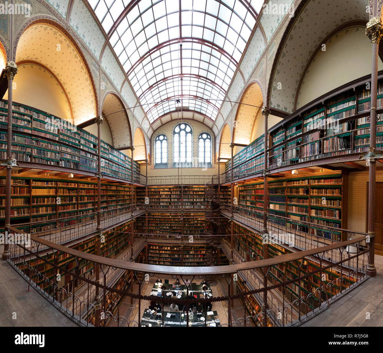 Interior of art history research library at the Rijksmuseum in Amsterdam, The Netherlands Stock Photo