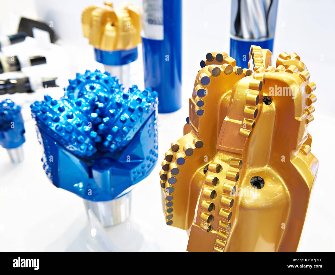 Drilling head for oil production at the exhibition - Stock Image