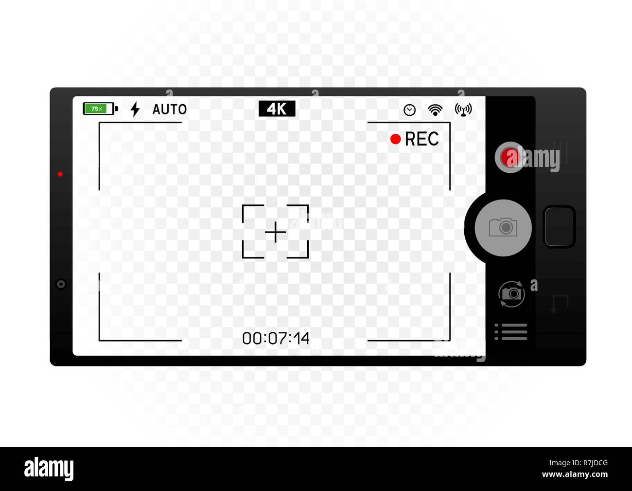 smartphone camera viewfinder template - Stock Image