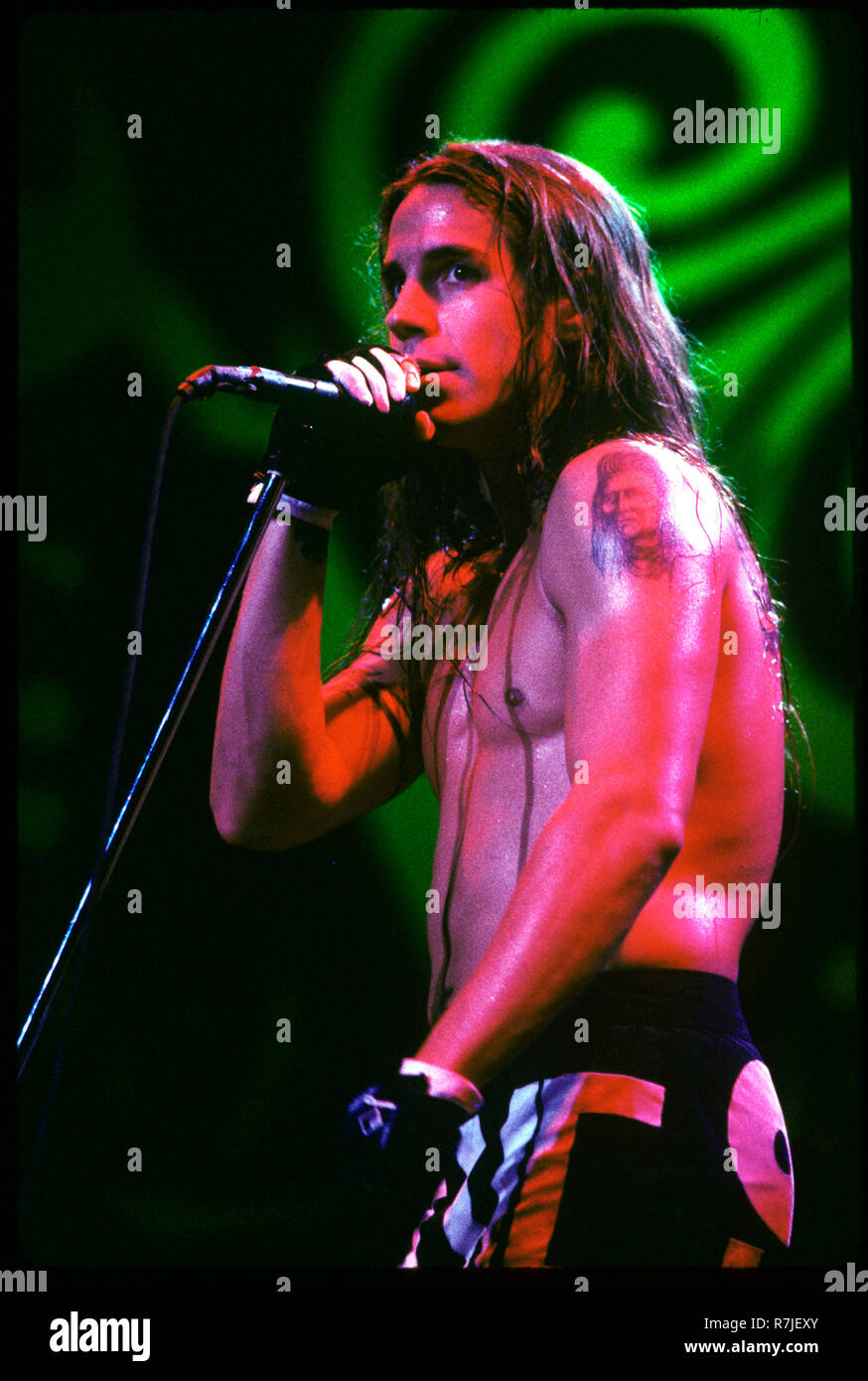 Red Hot Chili Peppers performing on Lollapalooza in Chicago, Illinois. July 1992 © Gene Ambo / MediaPunch ** - Stock Image
