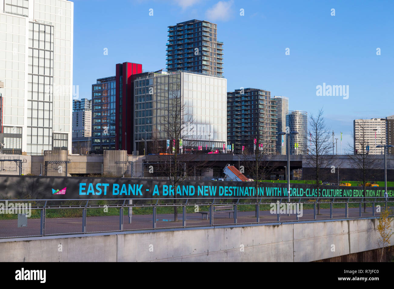 East bank site, stratford, london, uk Stock Photo