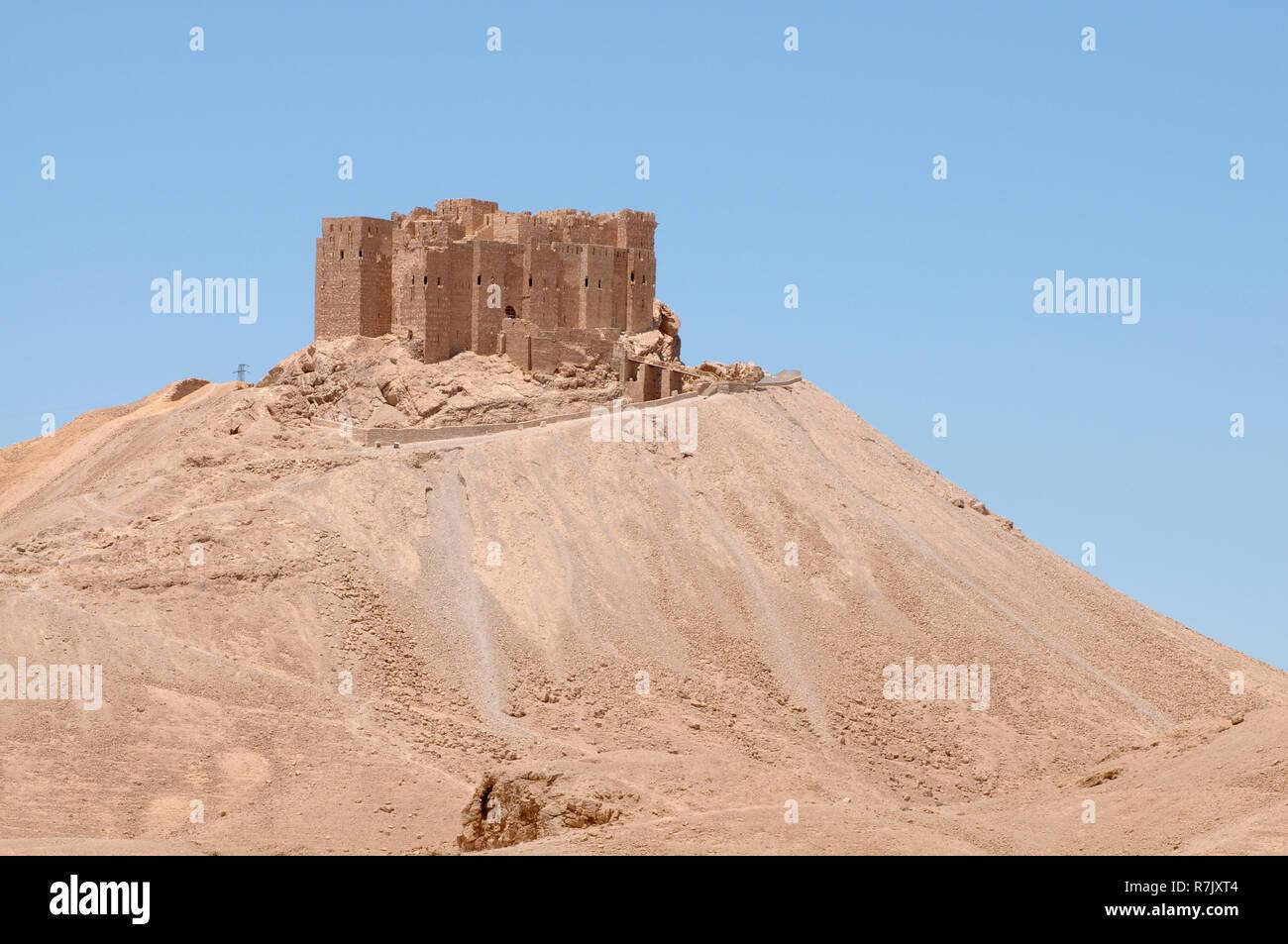 Fakhr-al-Din al-Maani Castle, a medieval Arab fortress, UNESCO World Heritage Site, Palmyra, Tadmur, Palmyra District Stock Photo