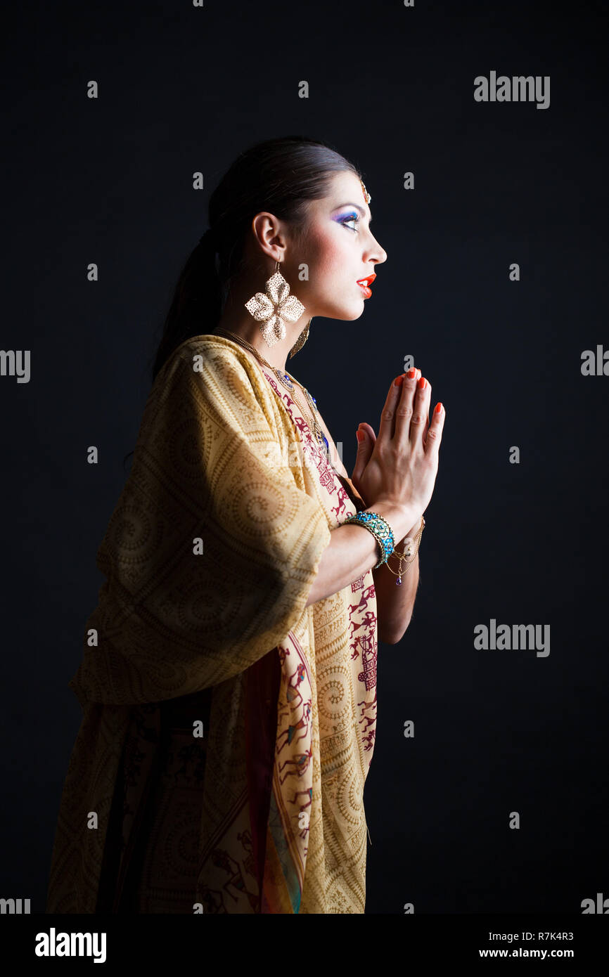 61f291c4b9 Indian sari dress Stock Photo: 228458247 - Alamy