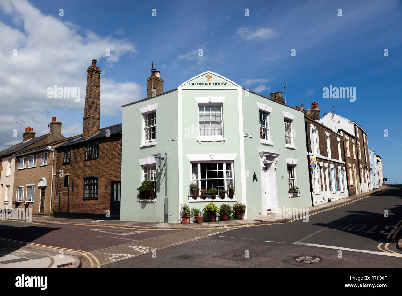 Cavendish House, at the junction of Sandown Road and North Street, Deal, Kent Stock Photo