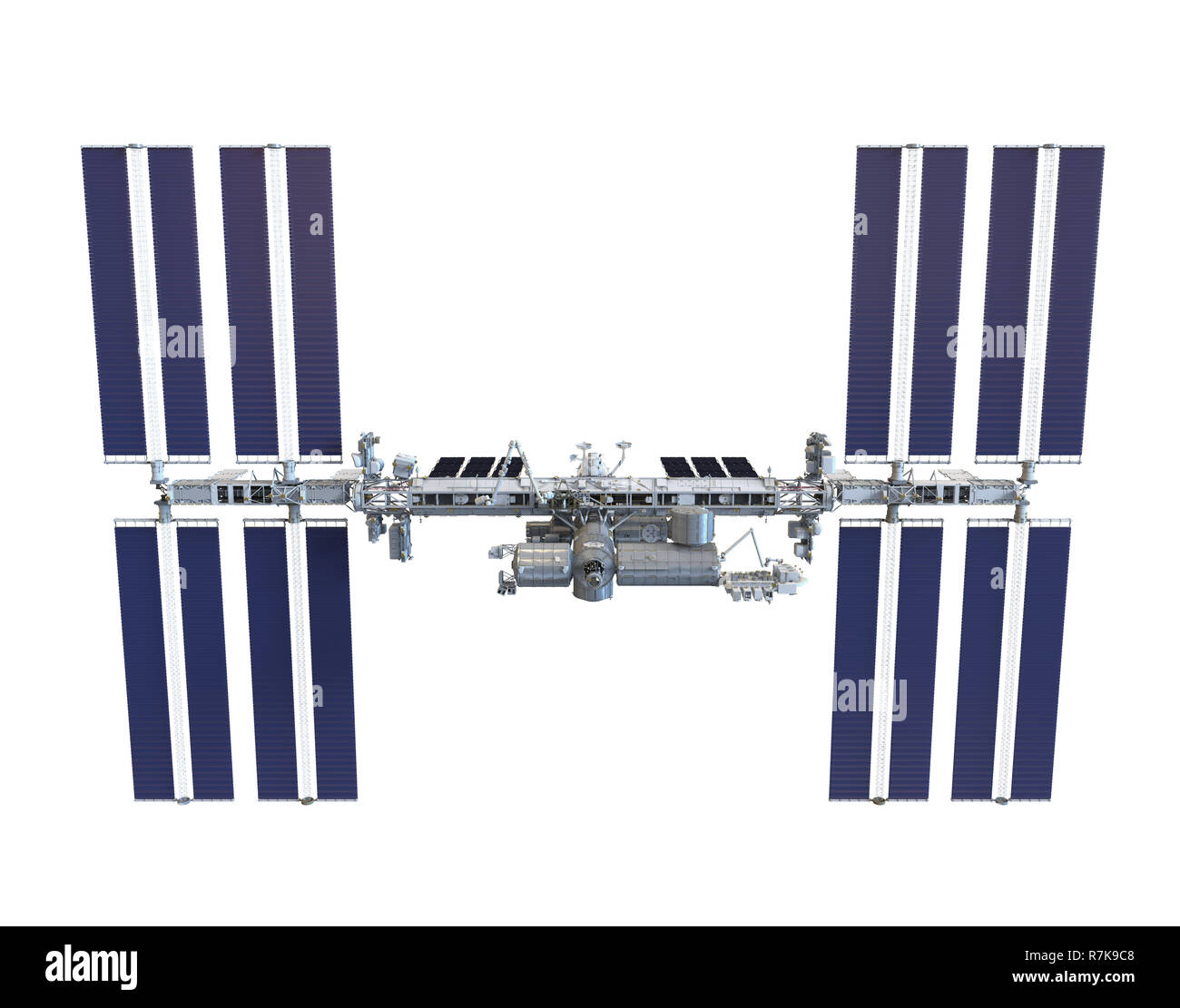 International Space Station Isolated Stock Photo