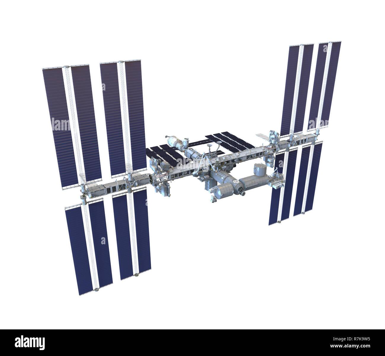 International Space Station Isolated - Stock Image