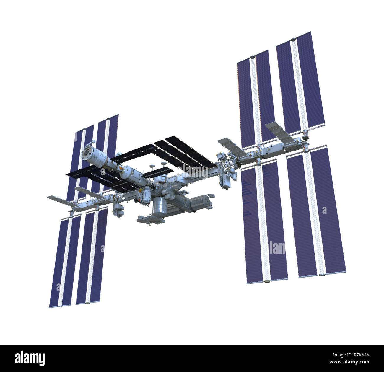 International Space Station Isolated - Stock Image