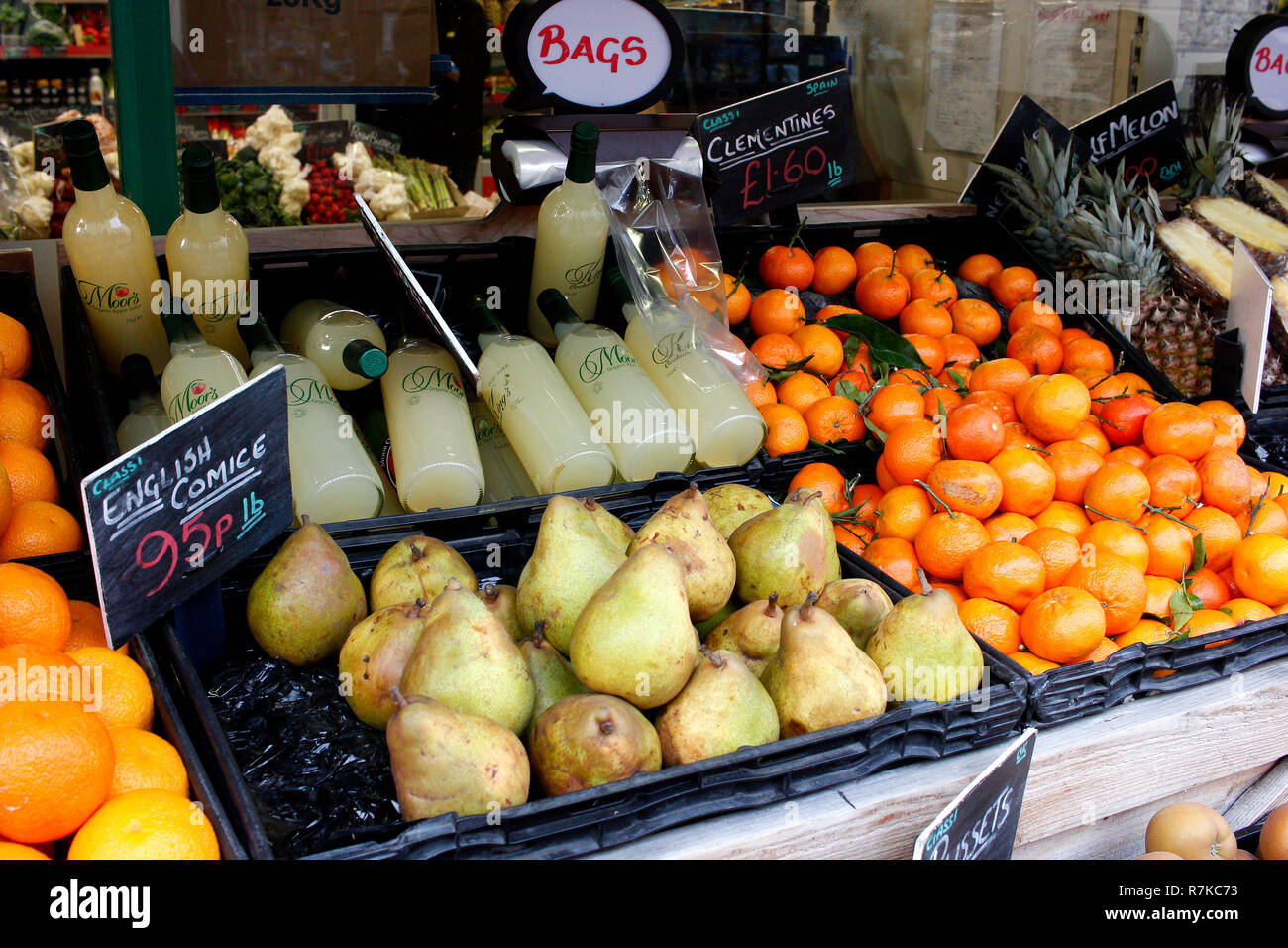 greengrocer shop in deal town kent county uk december 2018 Stock