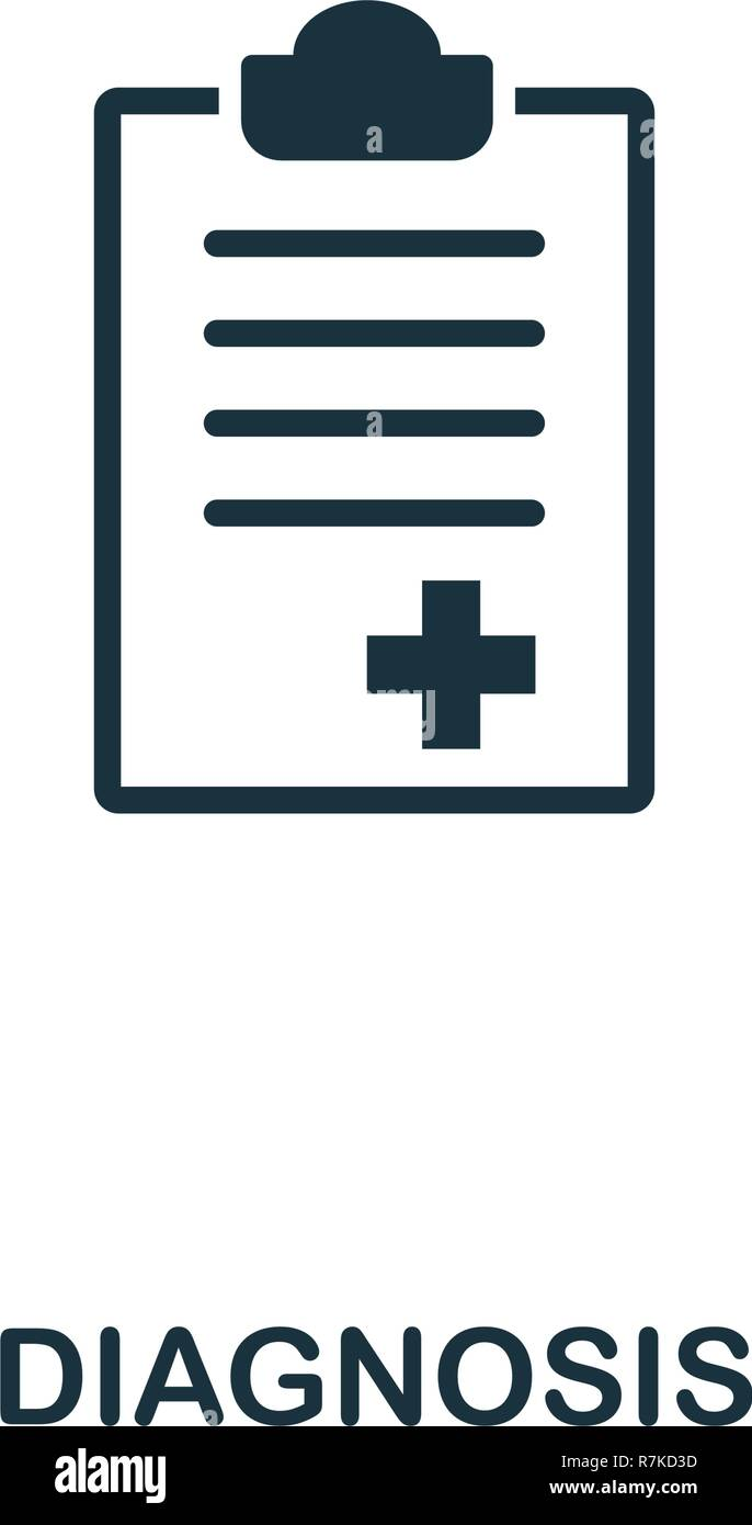 Diagnosis icon. Premium style design from healthcare icon collection. Pixel perfect Diagnosis icon for web design, apps, software, print usage - Stock Image