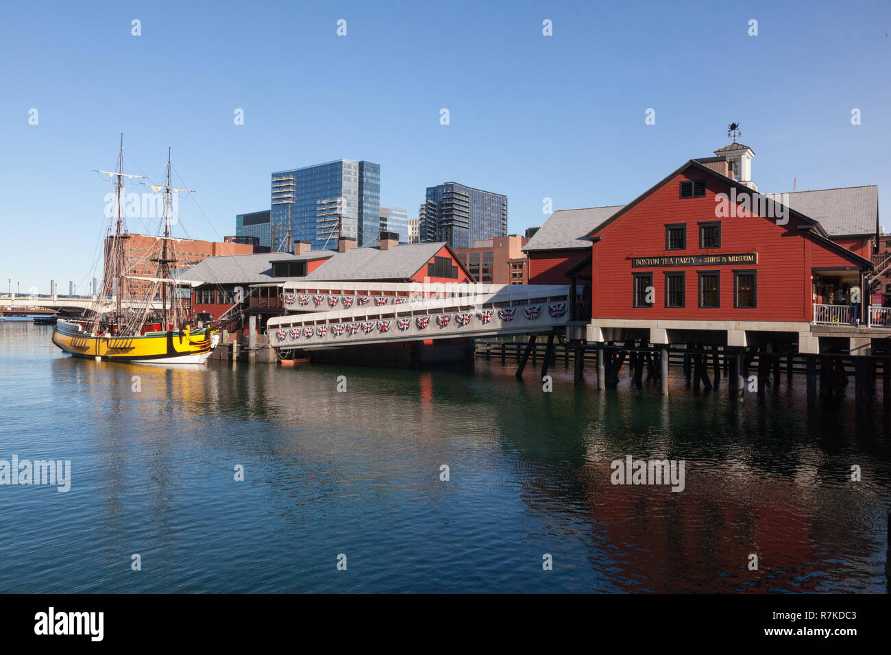 Boston Tea Party Ships & Museum,  306 Congress St, Boston,Massachusetts, United States of America. - Stock Image