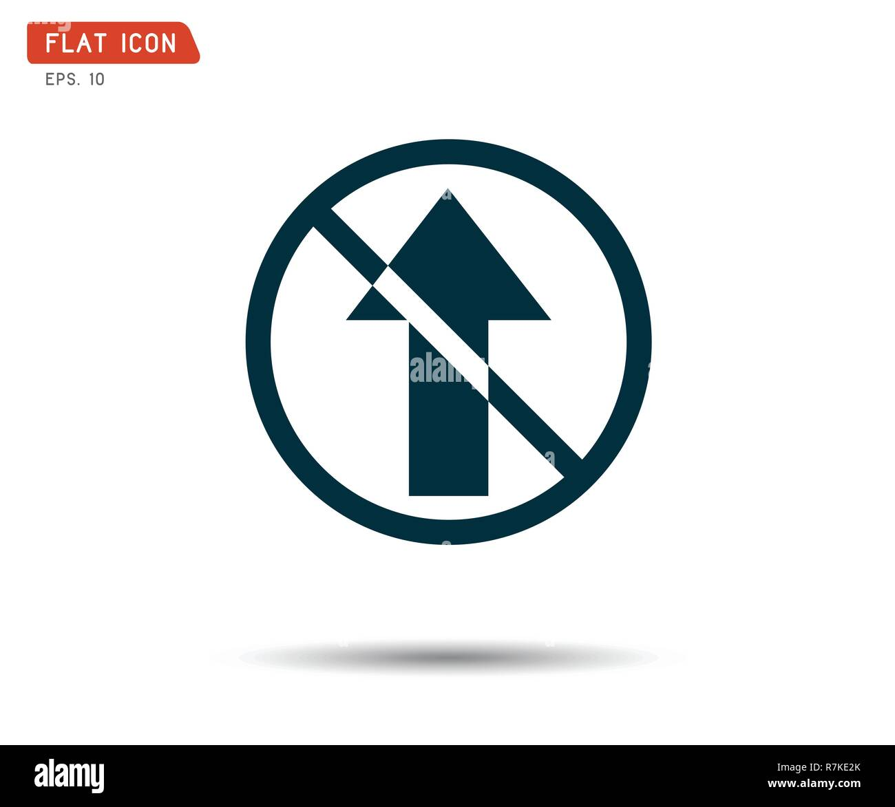 Road sign icon, directional arrow logo, Vector illustration - Stock Image