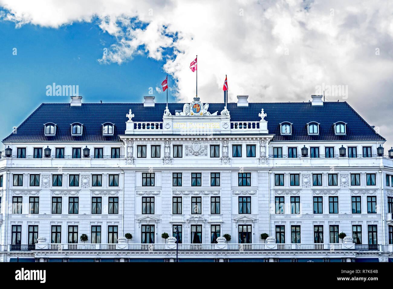 Kopenhagen, Hotel d'Angleterre am Kongens Nytorv; Copenhagen (Denmark) - Stock Image