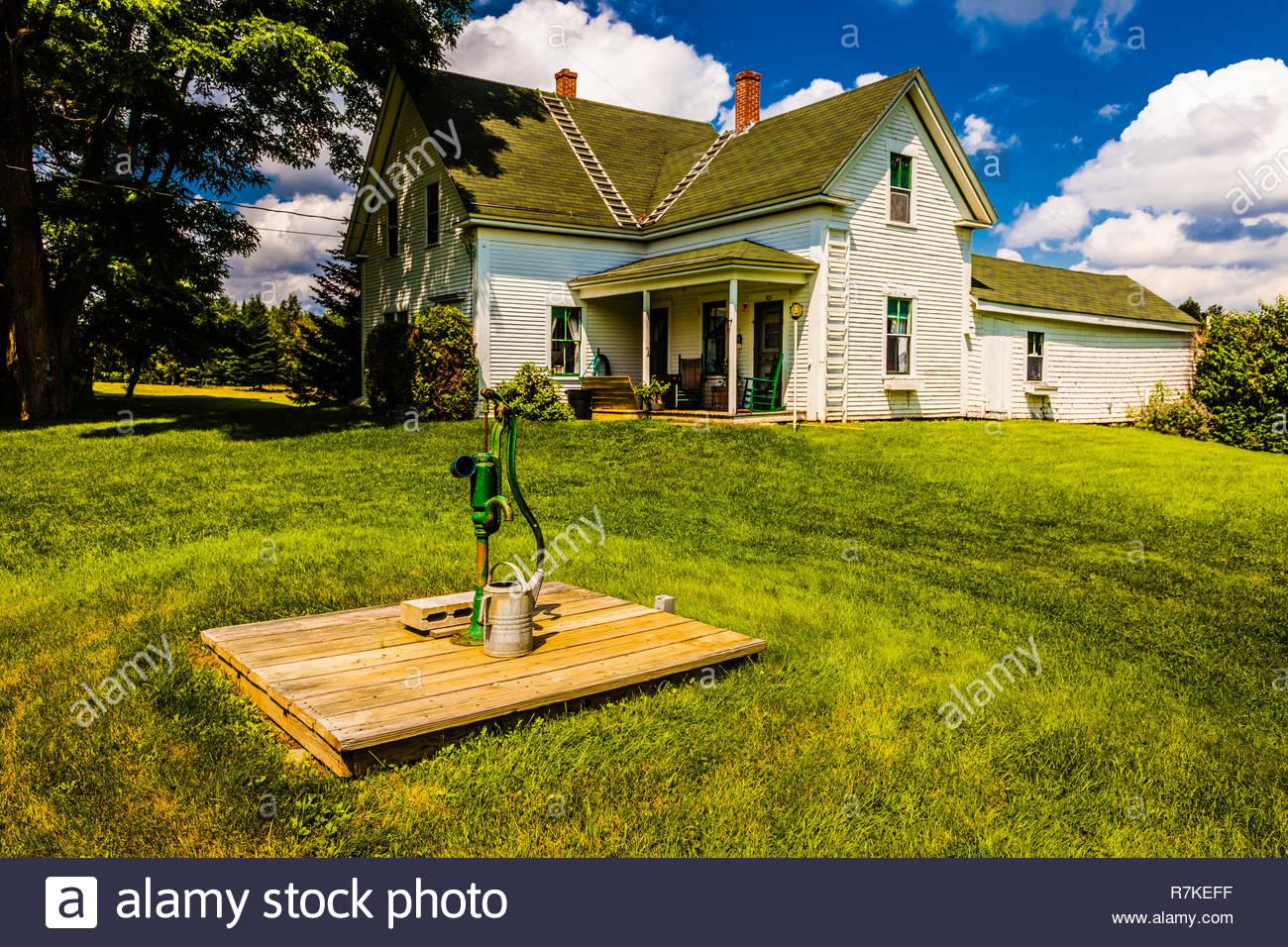 Farm House _ Talmadge, Maine, USA - Stock Image